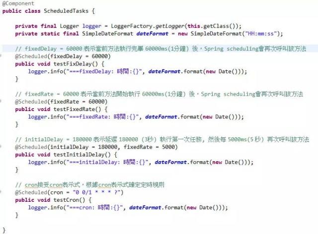Spring Boot Scheduling Tasks 定時任務排程器及Cron表示式