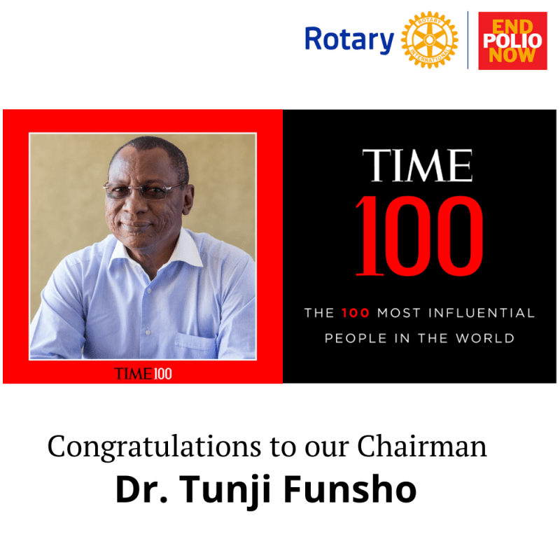 Dr Tunji Funsho, named one of  TIME100 Most Influential People in the World.