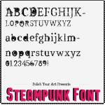 Steampunk Font Preview