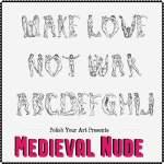 medieval nude font