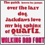 Walking dad font preview 2