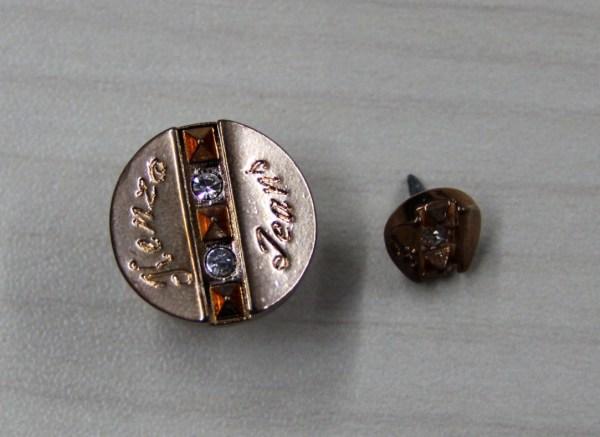 Płaski 3D Diament klienta Odzież metalowe guziki w Gun ...