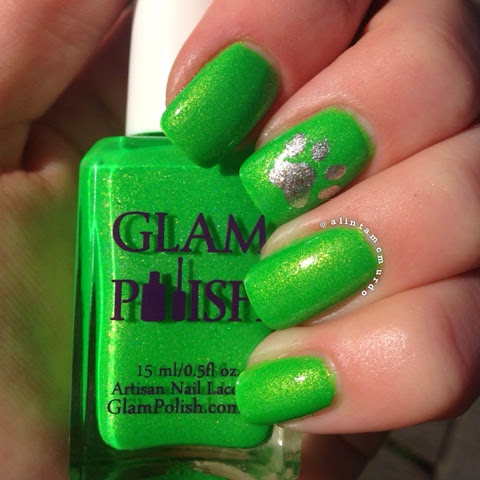 Lyme Bartonella Awareness Nails With Glam Polish Polish