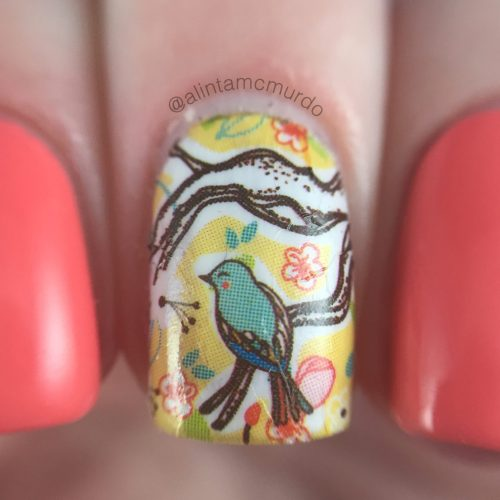 MILV N 265 Decal with Powder Perfect Florida Review and Swatches - Polish and Paws