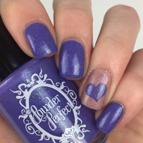 Wear It Purple Nails using Powder Perfect Lorelei and Sugar & Spice - Polish and Paws