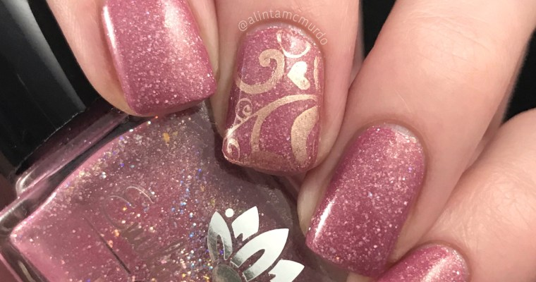 Pink and rose gold nails