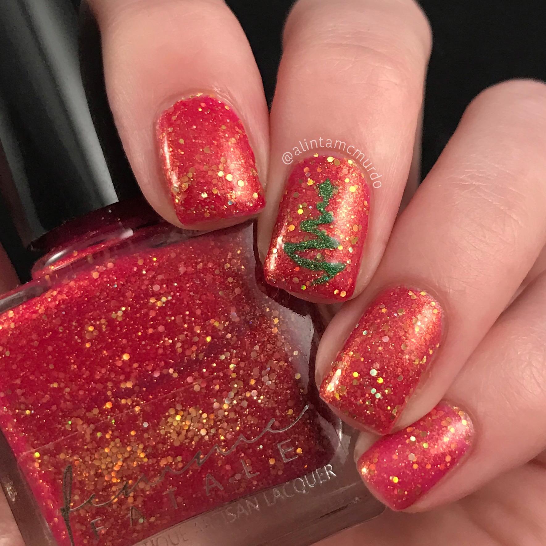 Thermal Christmas Tree Nails Polish And Paws