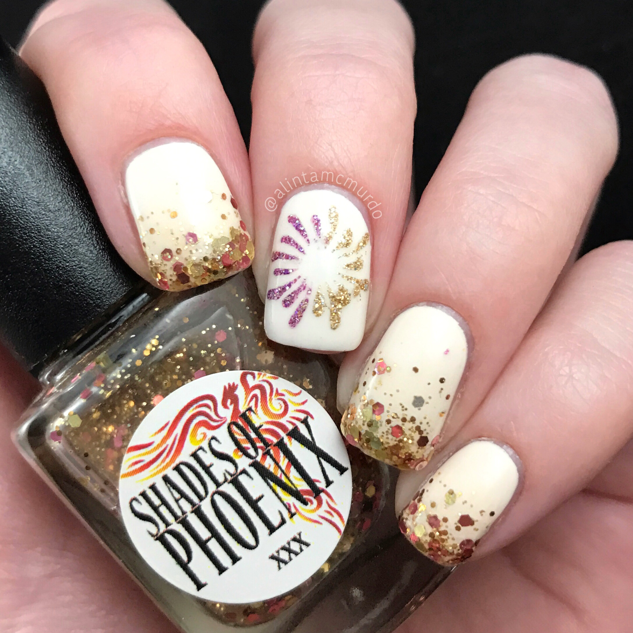 Glitter And Fireworks - New Year Nails - Polish And Paws