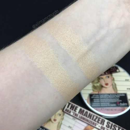 Mary-Lou Manizer from The Manizer Sisters Palette (left) and Mary Lou single (right) swatches