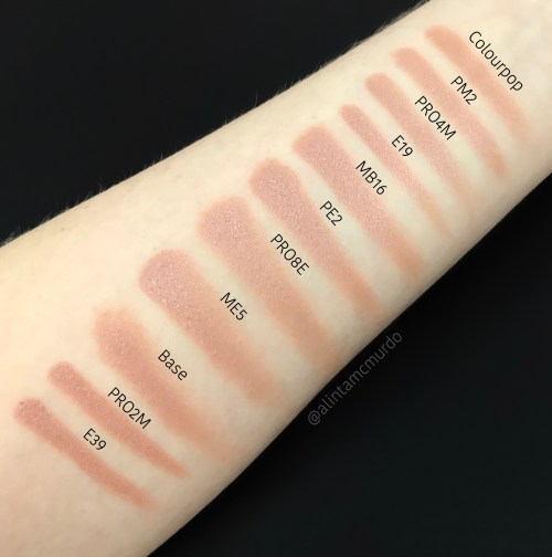 Colourpop Cosmetics Wattles swatched to compare how each brush works with Super Shock Shadows