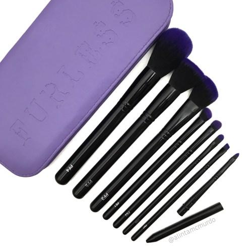 Furless makeup brushes - Purple Power Makeup Brush Set