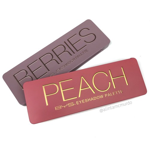 BYS Peach and Berries eyeshadow palette review