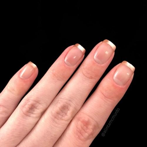 Ere Perez Waltz metallic tip nail art