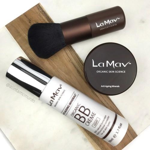 La Mav Certified Organic BB Creme, Anti-ageing Mineral Foundation and Vegan Kabuki Brush