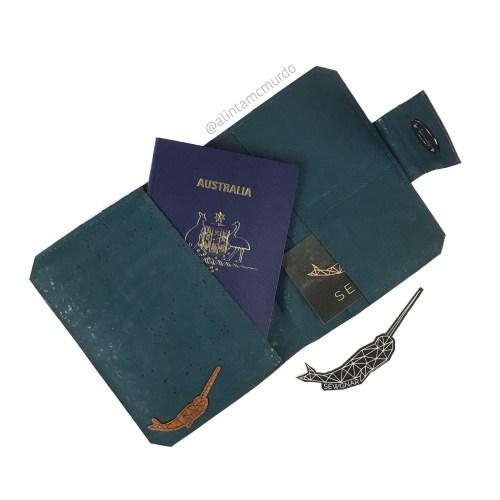 SewGnar handmade cork passport wallet