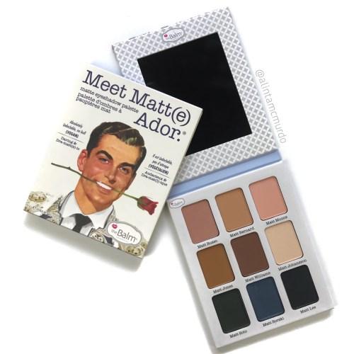 2018 Cruelty Free Eye Makeup Favourites - theBalm Cosmetics Meet Matt(e) Ador vegan eyeshadow palette - polish and paws blog