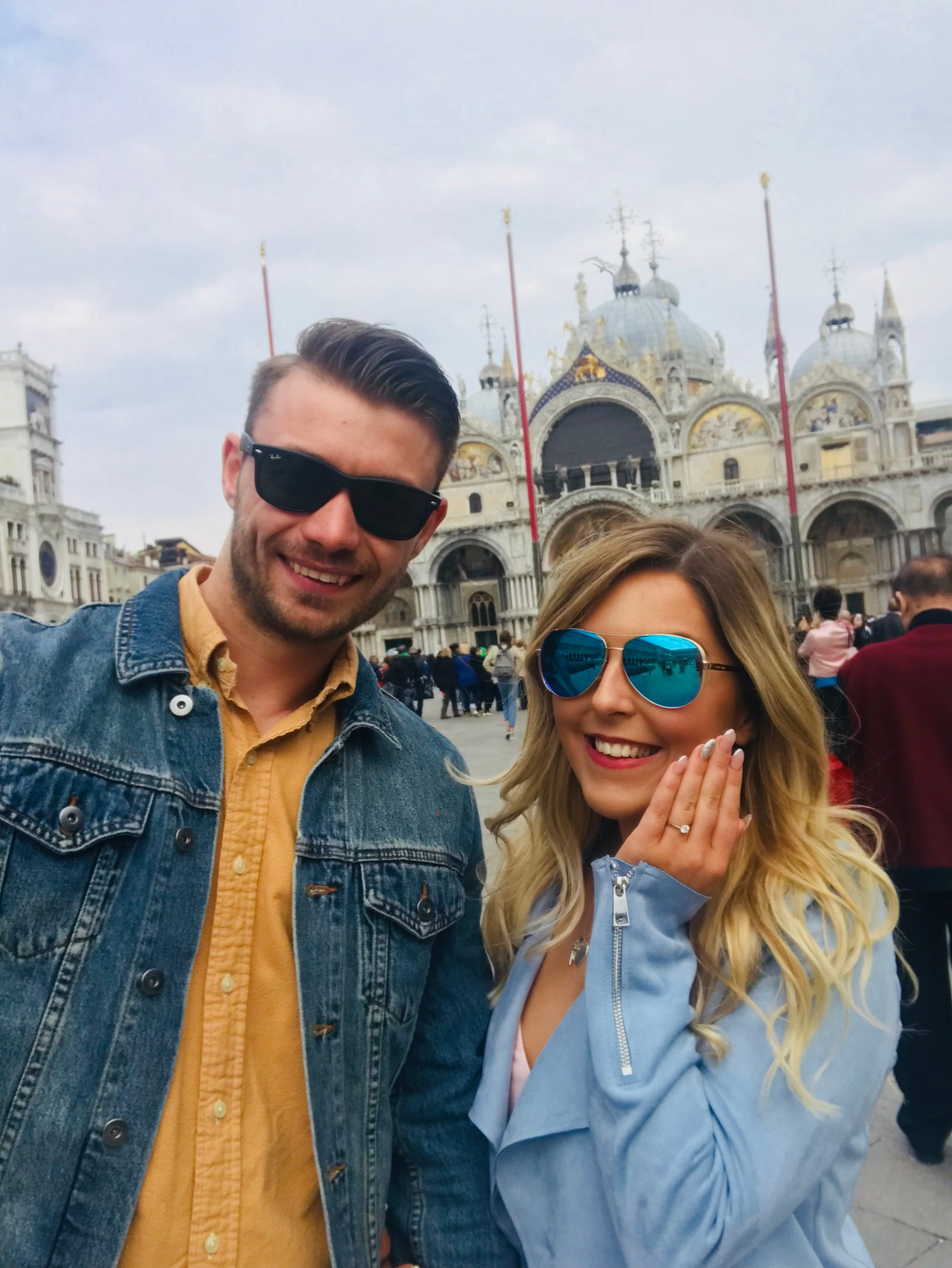 engaged in venice