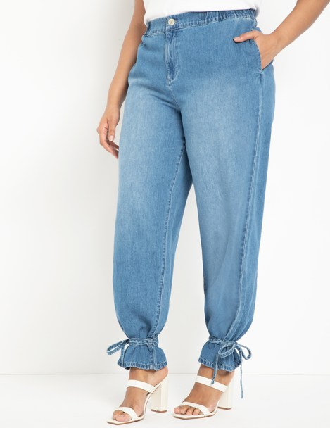 5 Summer 2020 Fashion Must Haves   Tie Ankle Jean from Eloquii