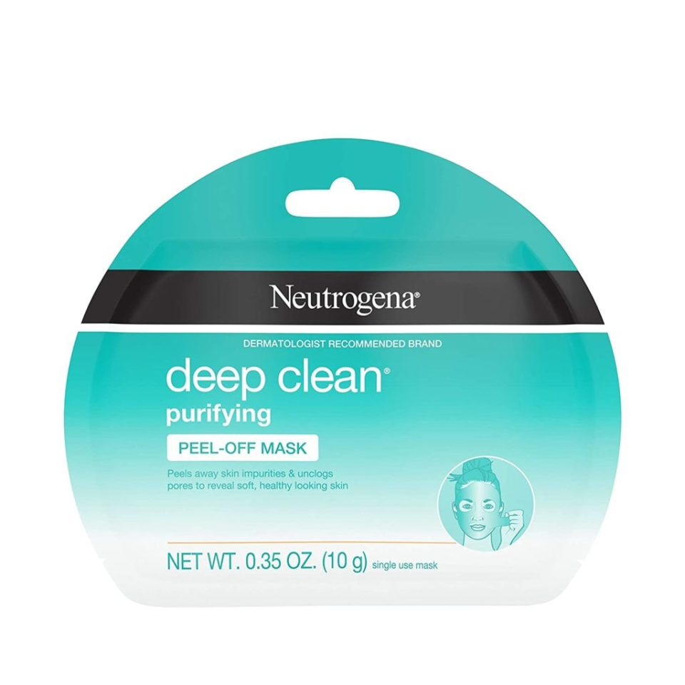 step 3 of home facial - Neutrogena Deep Clean Purifying Peel-Off Mask packet