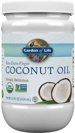 step 4 of home facial - Garden of Life coconut oil