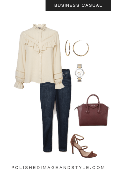 business casual Summer brown tone neutrals look