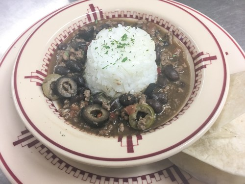Spicy Cuban Picadillo with Black Beans and Rice