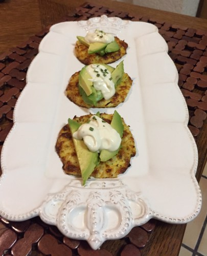 Cauliflower crust with avocado & aioli; a healthy, gluten free treat