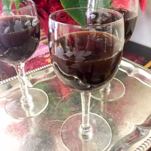 Dried Fruit Kompot or Kompot z Suszonych Owocow, an elegant non-alcholic beverage for the holidays