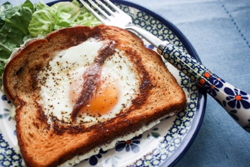 Polish Eggs in Bull's Eyes (Wołowe Oczy)