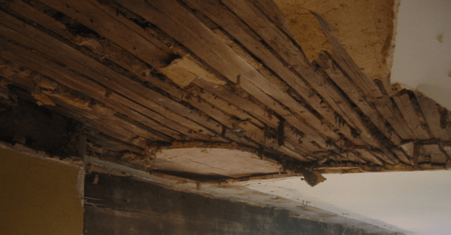 repairing a lath and plaster ceiling with large section missing