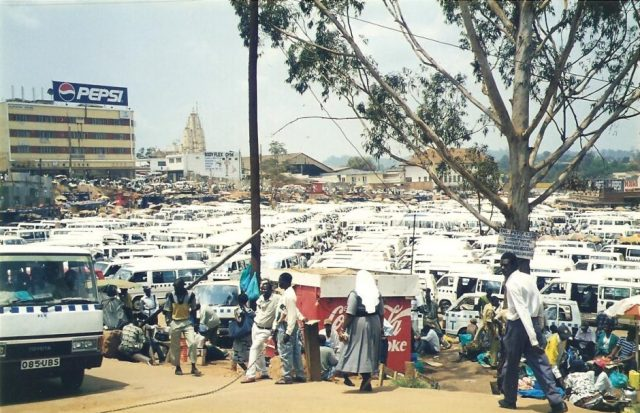 kampala taxi park full of matatqs