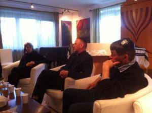 Dr. Halina Postek, Fr. Lemansi, and Piotr Stasiak
