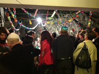 Kidush with 40 people on the first night of Sukkot