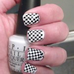 Black And White Checkered Nails Polish Me Please