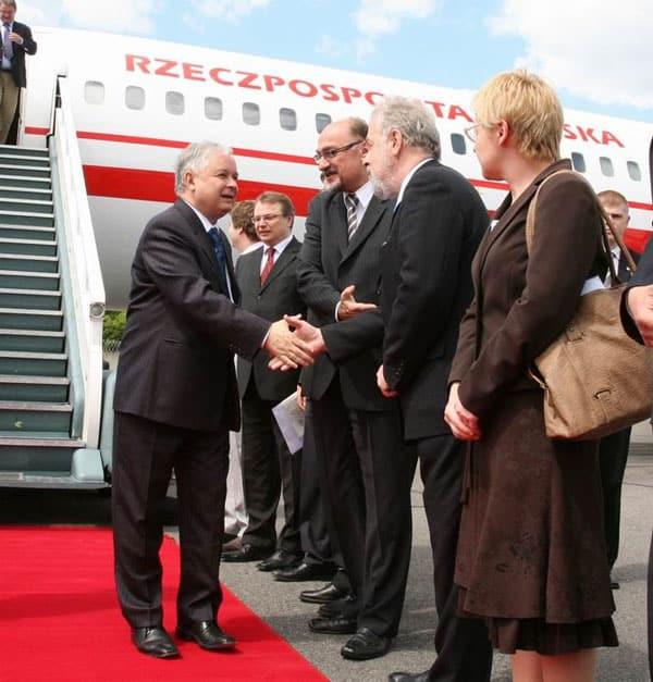 Powitanie Prezydenta RP na Litwie