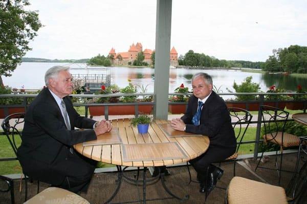 Spotkanie Prezydenta RP Lecha Kaczyńskiego z Prezydentem Litwy Valdasem Adamkusem
