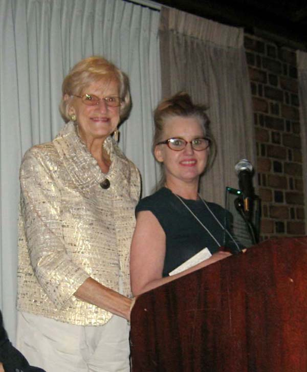 Pictured L-R: 1st VP Bernadette Wiermanski presenting Cultural Achievement Award to Barbara Kathleen Herbich.
