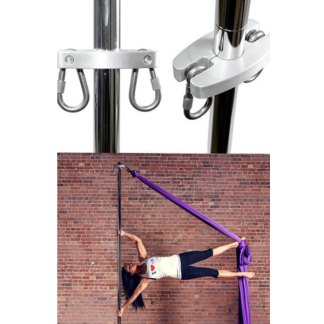 Silkii adapter for attaching silks to your pole