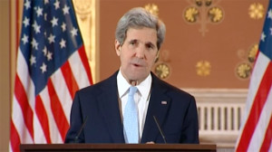 John Kerry speaking in London
