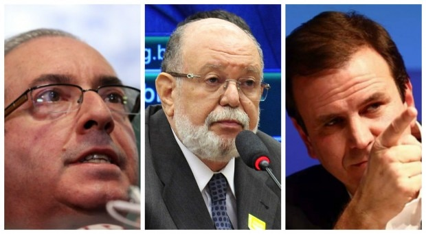 Da esquerda para a direita: Eduardo Cunha, Léo Pinheiro e Eduardo Paes. Fotos: André Dusek/Estadão, Luis Macedo/Câmara e Fábio Motta/Estadão
