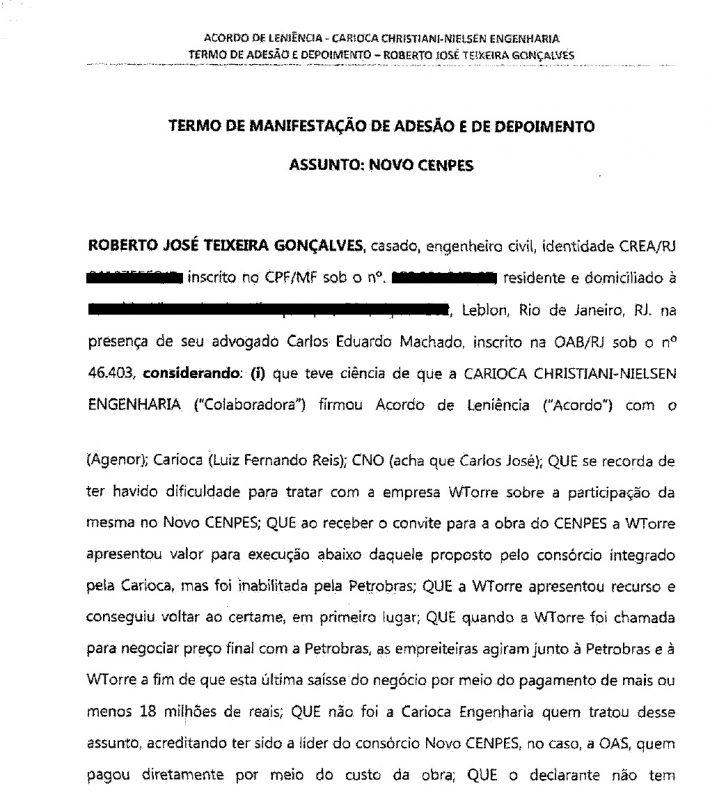 DELAÇÃO ROBERTO GONÇALVES NOVO CENPES