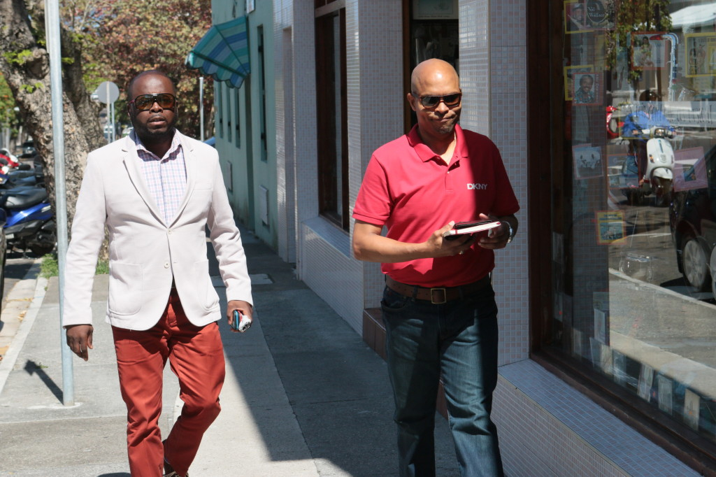 Derrick Greene (left) and Tourism Minister Shawn Crockwell