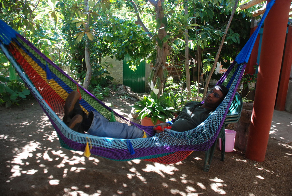 A wilful ignoramus blissfully dozing in a hammock