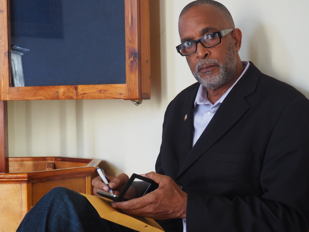 """Donal Smith, the man who recruited """"Team Hamilton"""" to contest the 2012 City of Hamilton elections. Smith was appointed Deputy Mayor following the historic victory in Bermuda's first municipal elections open to the residents."""