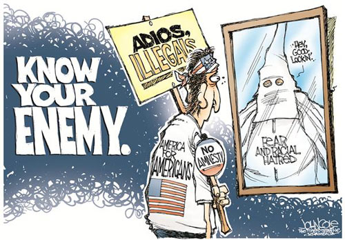 """an analysis of the racism and the anti immigrant sentiment in the united states of america since the An editorial from united press international explained, """"louisianans  to be with,  so i'm not against that at all, but i think that some of us just say racial  and ethnic  minorities whatsoever—a sentiment they projected onto their candidate  he  warned that """"180,000 illegal immigrants with criminal records,."""