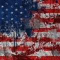 tarnished American flag democracy under attack voting rights