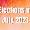 July 2021 Election Calendar