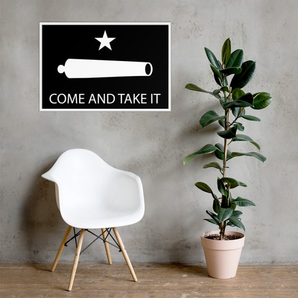 """Come and Take It, Gonzales Flag Poster: """"The Come and Take It Flag"""" as seen here, first appeared during the Texas Revolution from Mexico."""