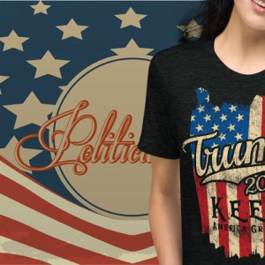 Trump 2020 Keep America Great Flag Vintage T-Shirt | Political T Shirts, Gifts, and Gift Ideas for Republicans and conservatives | PoliticalGift.com