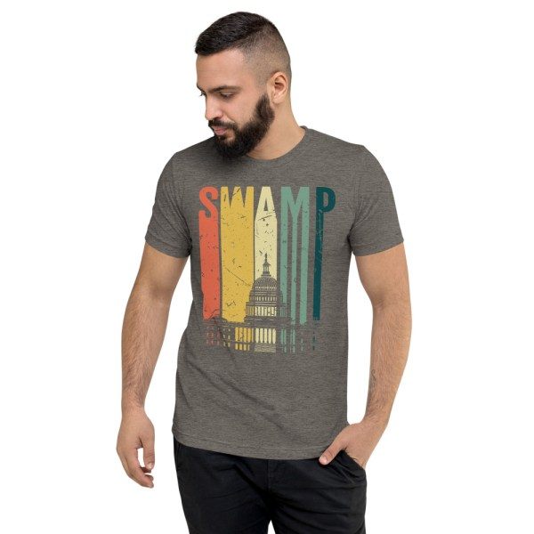 """Trump """"Drain the Swamp"""" Congress DC Retro T-Shirt 